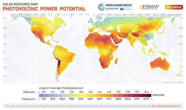 World Solar PV Potential