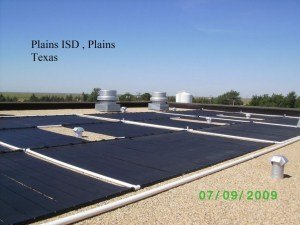 Flat-roof-installation solar project